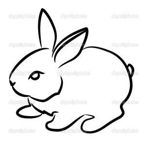 rabbit drawing easy bunny sketch bunnies google