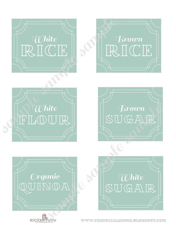 Custom Printable Kitchen Pantry Home Labels Vintage Blue Collection 18 00 Via Etsy
