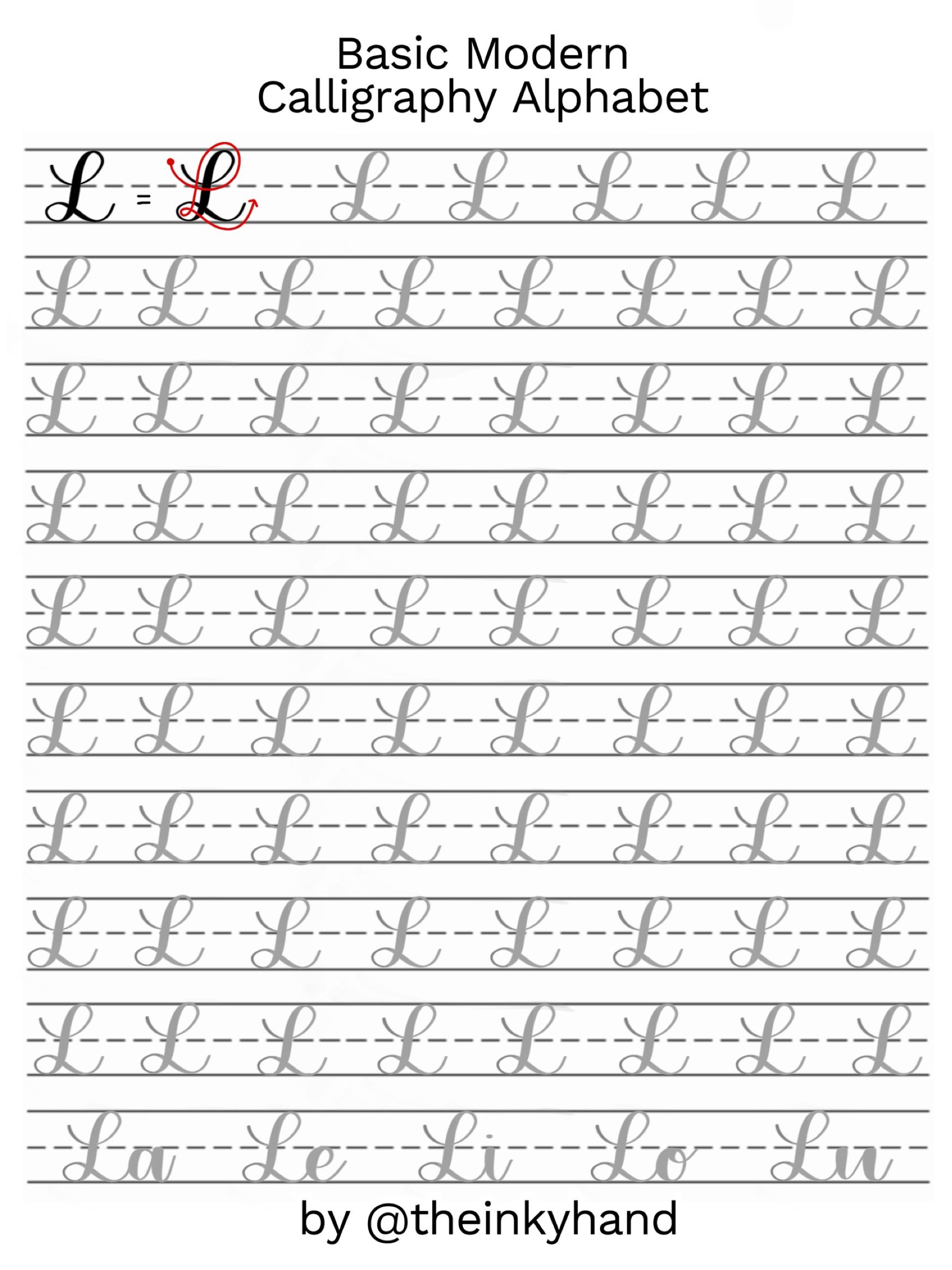 Theinkyhand Product Upper And Lowercase Alphabets