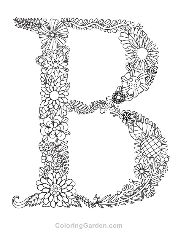 Free printable floral letter