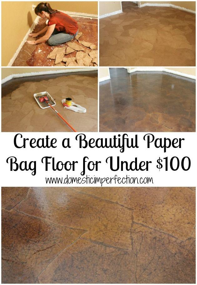 Paper Bag Flooring on Pinterest  Paper Flooring Paper