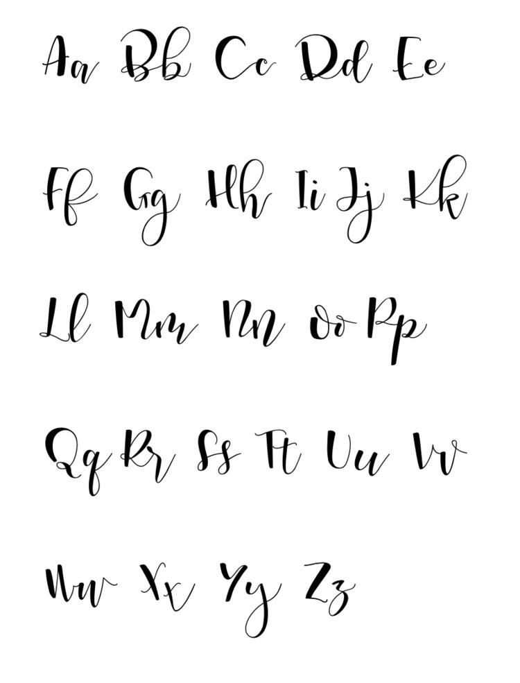 The 25+ best Hand lettering alphabet ideas on Pinterest