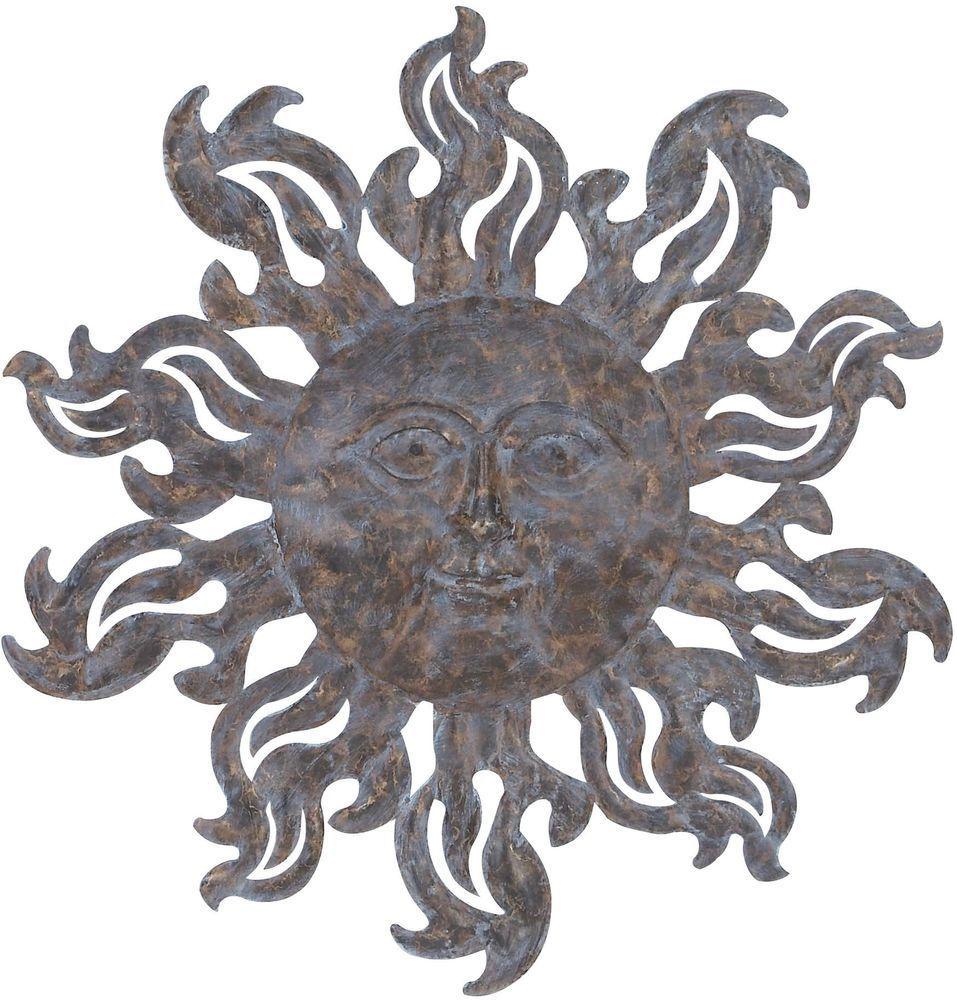 Wall art metal decor sun sculpture indoor outdoor inch iron celestial garden sbs also rh pinterest