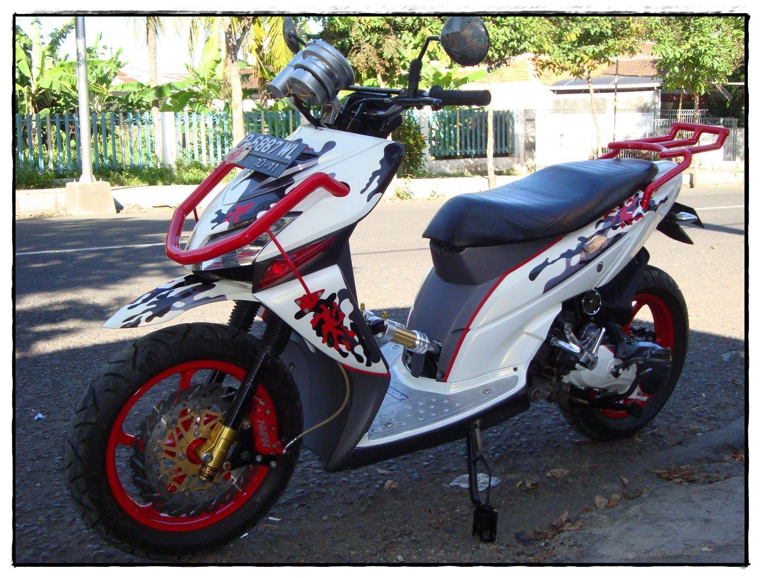 Foto Modifikasi Motor Untuk Touring Modifikasi Motor Beat Terbaru