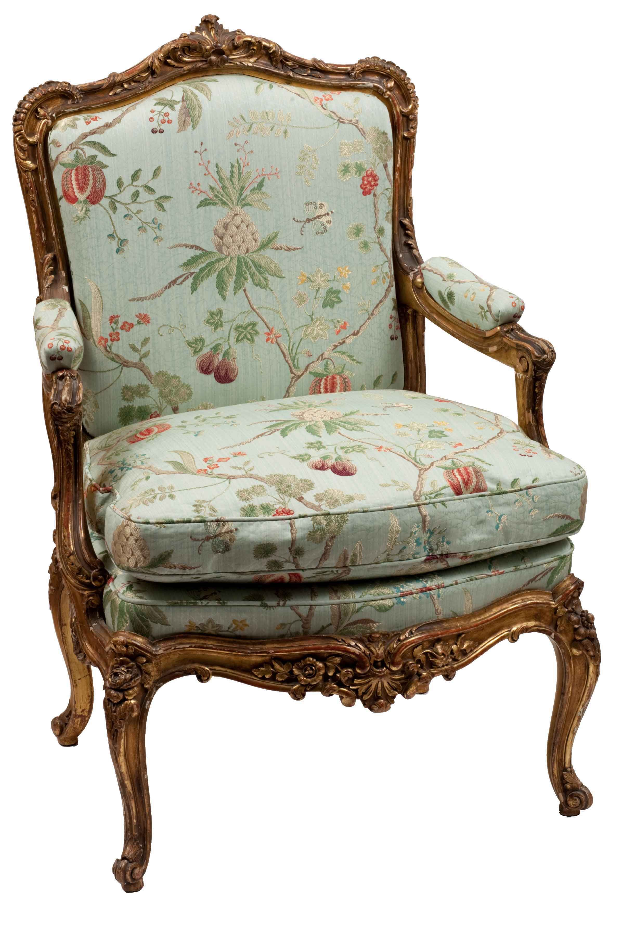 chair antique styles sky stand reviews single louis xv style gilt frame arm