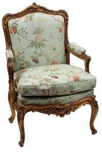 Single Louis XV Style Gilt Frame Arm Chair - Antique Chair ...