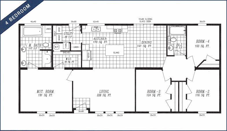 Marlette Special 2860 4 Bedroom Manufactured Home For Sale