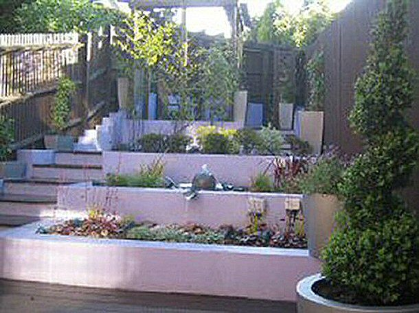Landscaping Ideas For Sloping Gardens stepping stone bridge landscaping garden galleries hgtv home garden television Small Contemporary Sloping Garden Design In Bracknell Berkshire