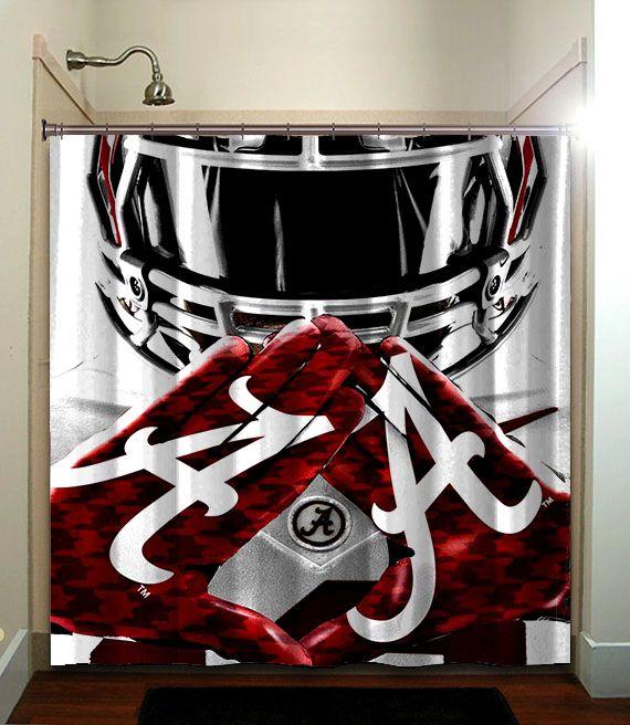 Alabama Crimson Tide BAMA Shower Curtain Collage Football NCAA