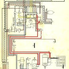 1967 Volkswagen Wiring Diagram W124 E500 In Color 1964 Vw Bug Beetle Convertible