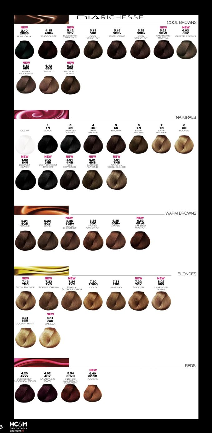 Hair color chart loreal inoa hairsstyles l oral professionnel dia richesse color chart august 2017 nvjuhfo Image collections