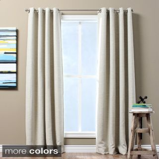 Solid Textured Insulated Thermal Blackout Curtain Panel By