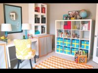 Office playroom combo. Awesome idea for small spaces | l i ...