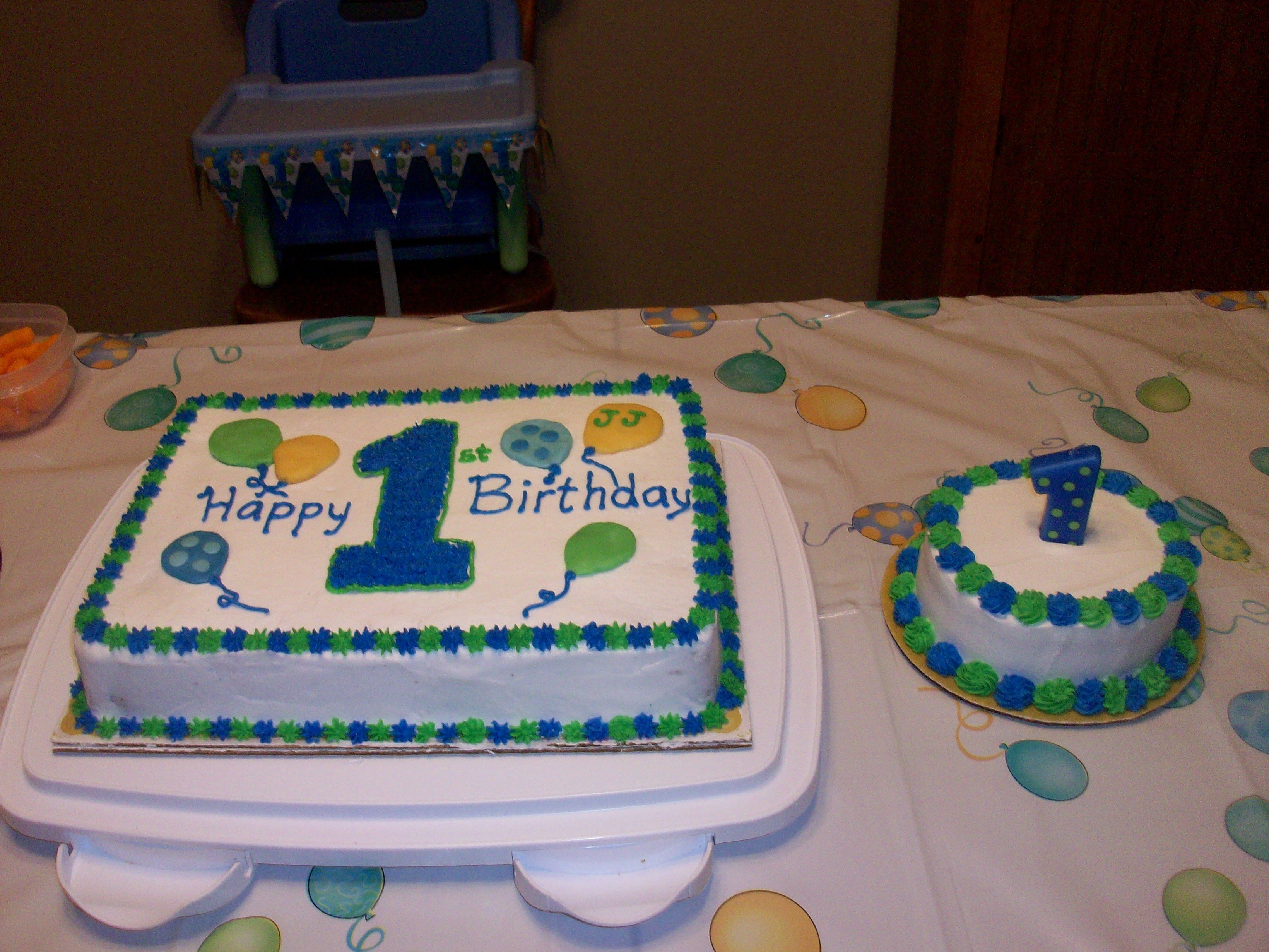 Baby Boy 1st Birthday Cake