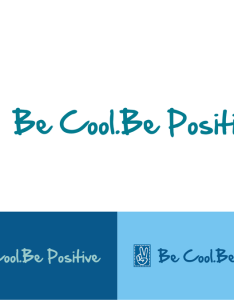 Logo for be cool positive also by payz  hosted website rh pinterest