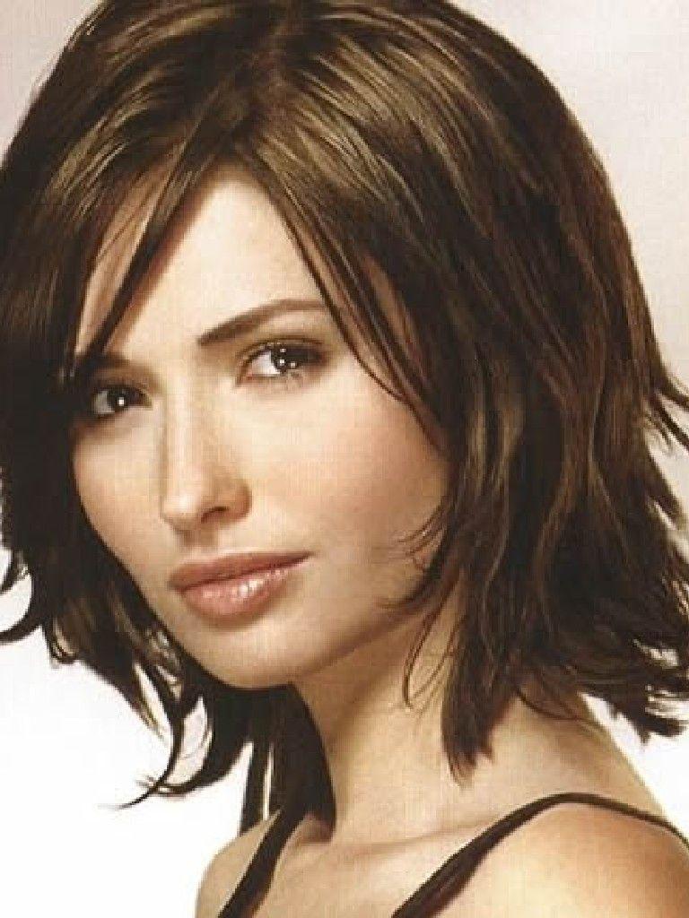 Beautiful Short Hairstyle Frisur Schulterlang Braun Frisuren