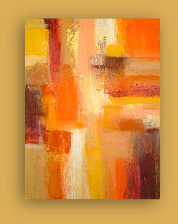 Fine Art Paintings Abstract Orange