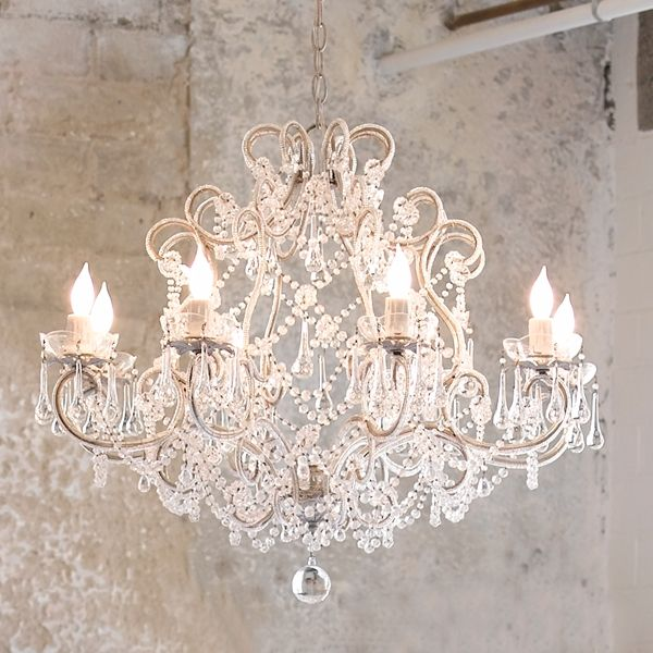 Classic Shabby Chic Chandelier You Can Do It Yourself By Finding An Old Brass