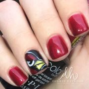 glitternailartist arizona cardinals