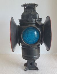 "Vintage Railroad Switch Lamp Lantern ""Adlake Non Sweating ..."