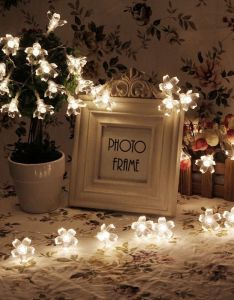 led string lights battery operated christmas fairy warm white lutos flower decorative indoor also rh pinterest