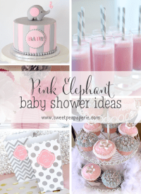 Pink and Gray Elephant Baby Shower Ideas | Baby Shower ...