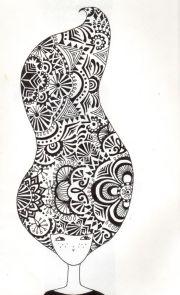 zentangle head