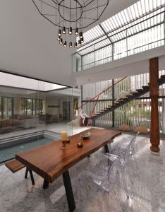 Courtyard house by abin design studio also and rh za pinterest
