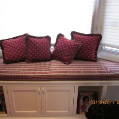 Bay Window Sofa Seating Big Boy Sectional Sofas Custom Made Bench With Matching Pillows Keep