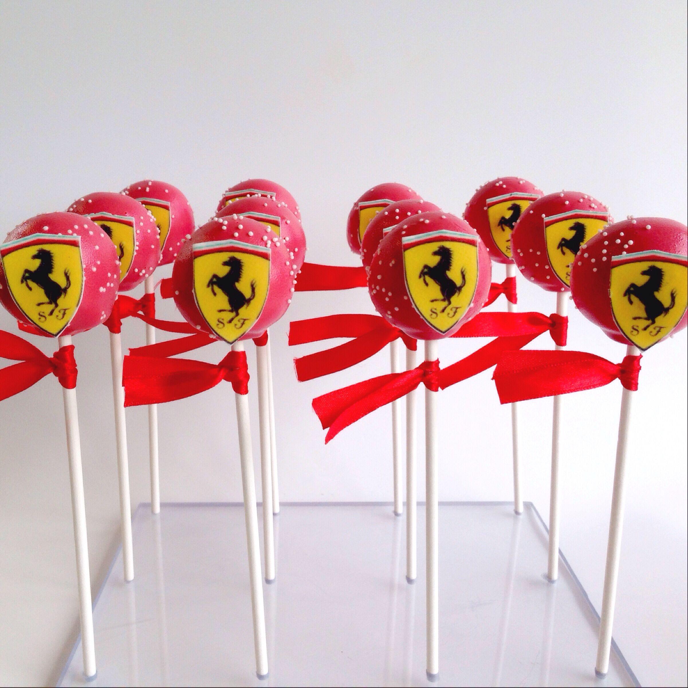 Ferrari Themed Cake Pops