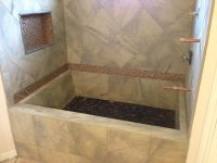 custom tile bathtub