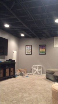 Paint for exposed ceiling in basement: Sherwin Williams ...