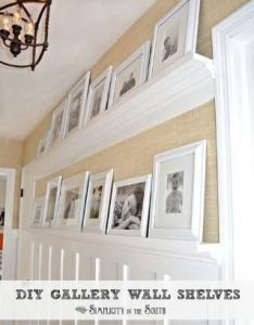 You can actually make your own gallery wall shelves to keep pictures and smaller knick knacks in place molding used also innovative kitchen organization storage diy projects page rh pinterest