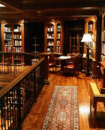 Home Library Dark Wood