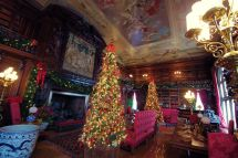 Library Biltmore House With Christmas Decorations