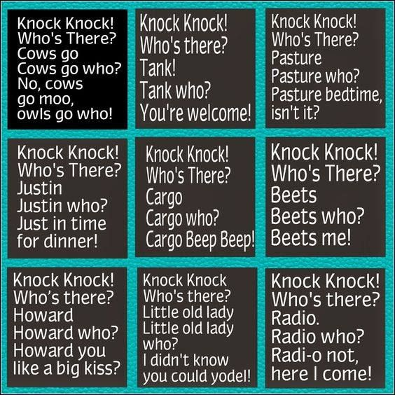 Hilarious Jokes Knock Knock