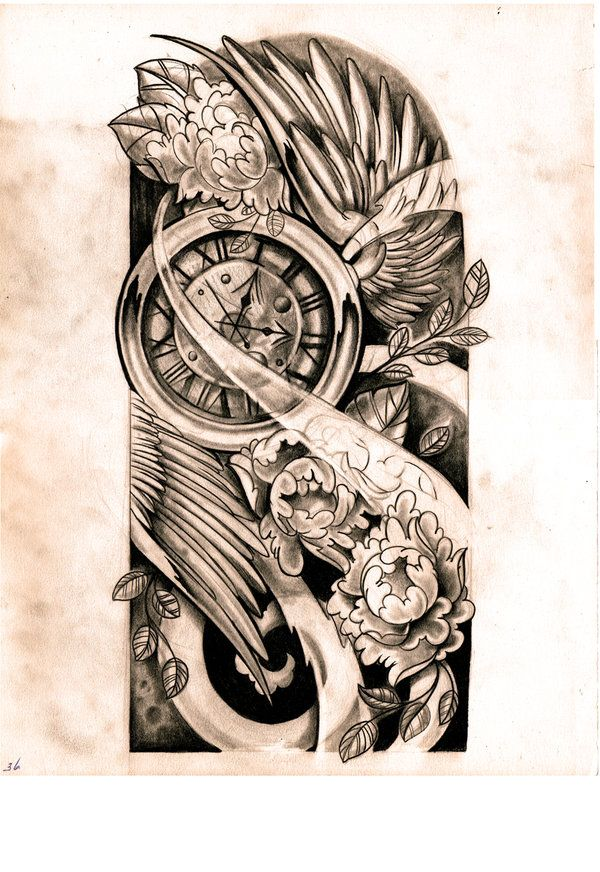 sleeve tattoo design drawings