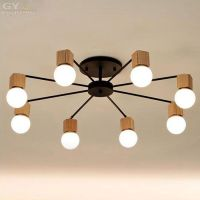 AC100 240V Ikea RH Loft wood LED ceiling lights living ...