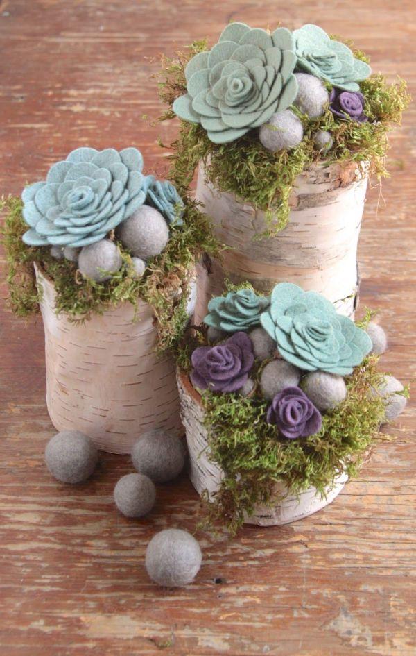 Diy Felt Succulents Craft Ideas Felting