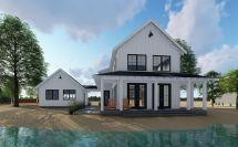 Modern Farmhouse Plans with Detached Garage