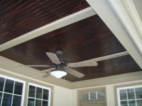 stained beadboard ceiling for front porch | Outdoors ...