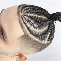 30 Dazzling Braided Bun For Men- Men Braids Hairstyles ...