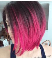 pink bob hair style