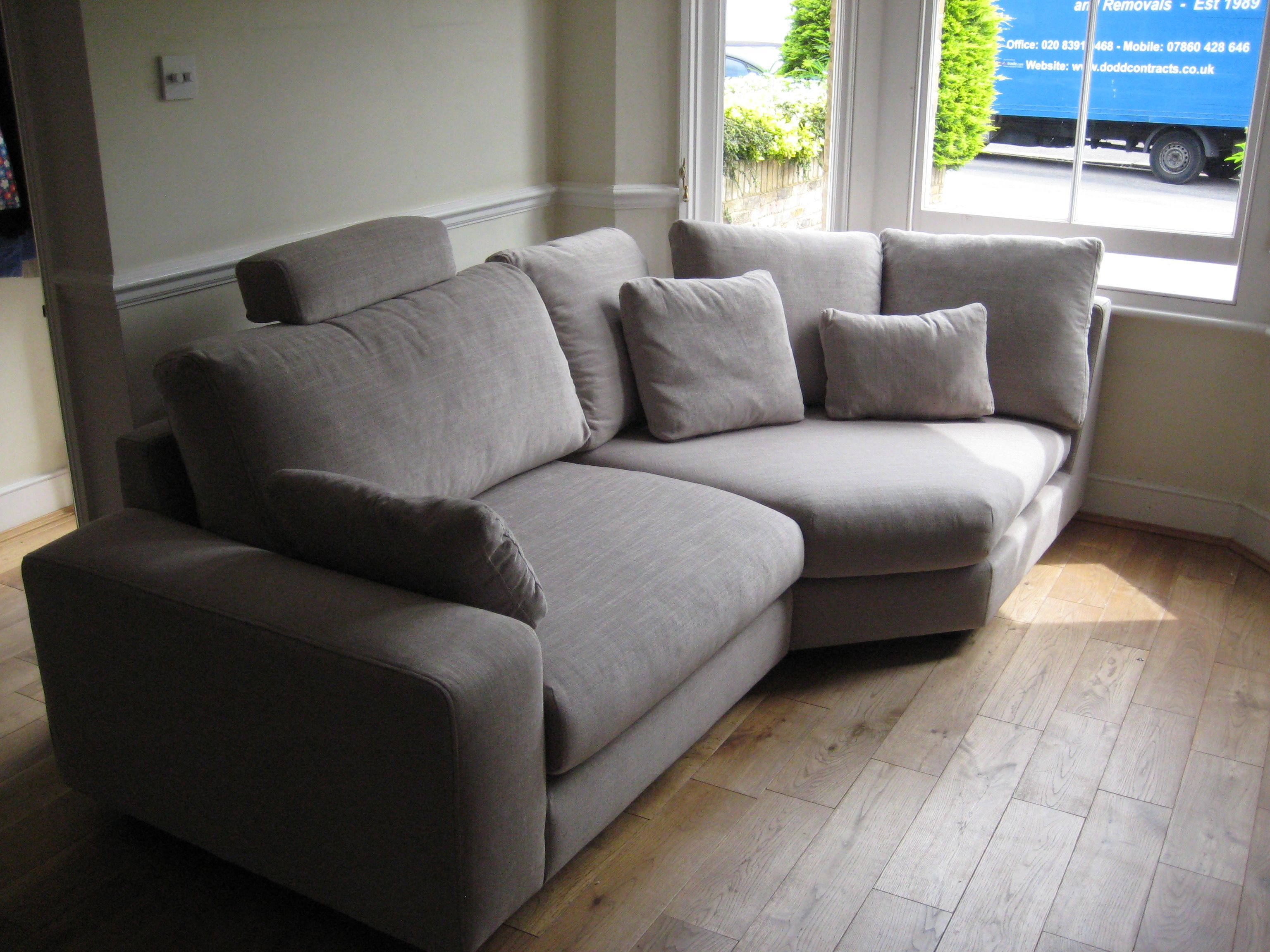big sofas in small rooms twin size sleeper a room with bay window takes large sofa section