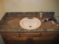 Bathroom vanity tile countertop | For the Home | Pinterest
