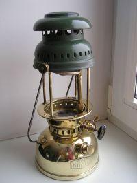 """ANTIQUE German KEROSENE LANTERN gas LAMP """"Hasag"""" BRASS ..."""