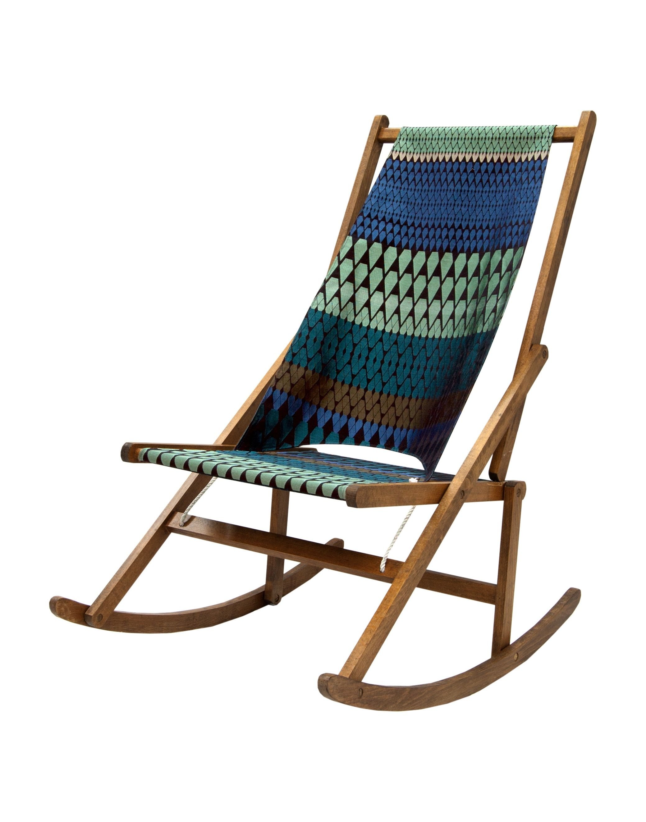 Fabric Folding Chairs Want One Folding Rocking Chair Made By Wawa