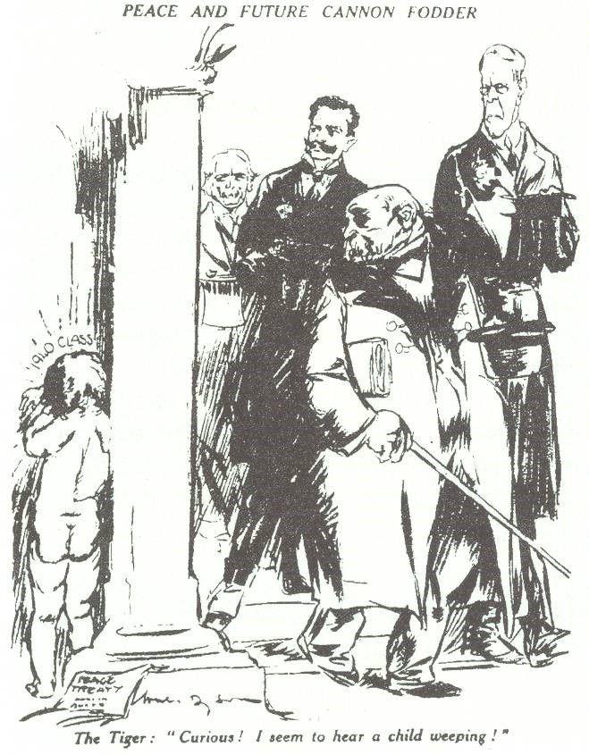 A cartoon drawn in 1920 by British cartoonist Will Dyson