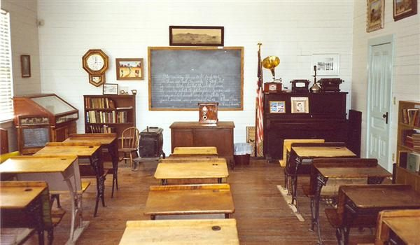 Original school room from 1927. Inspiration