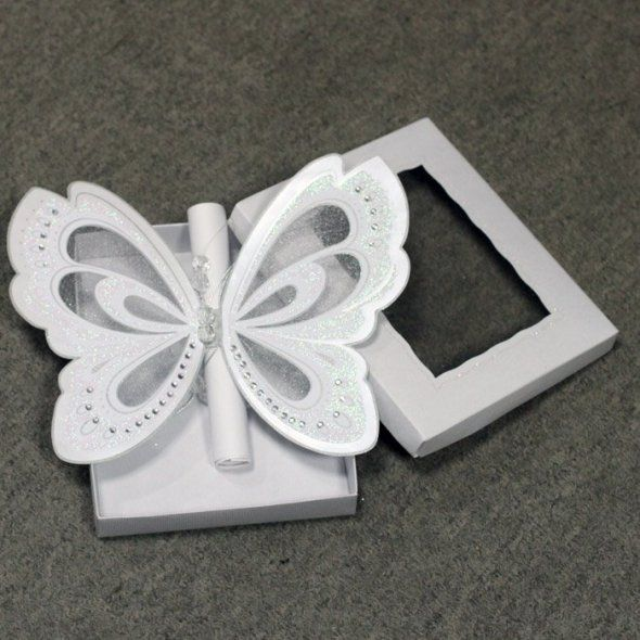 Laser Cut Butterfly Wedding Invitations